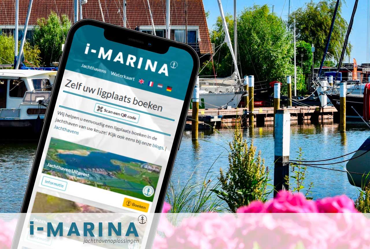 Via de App op de haven betalen met i-Marina