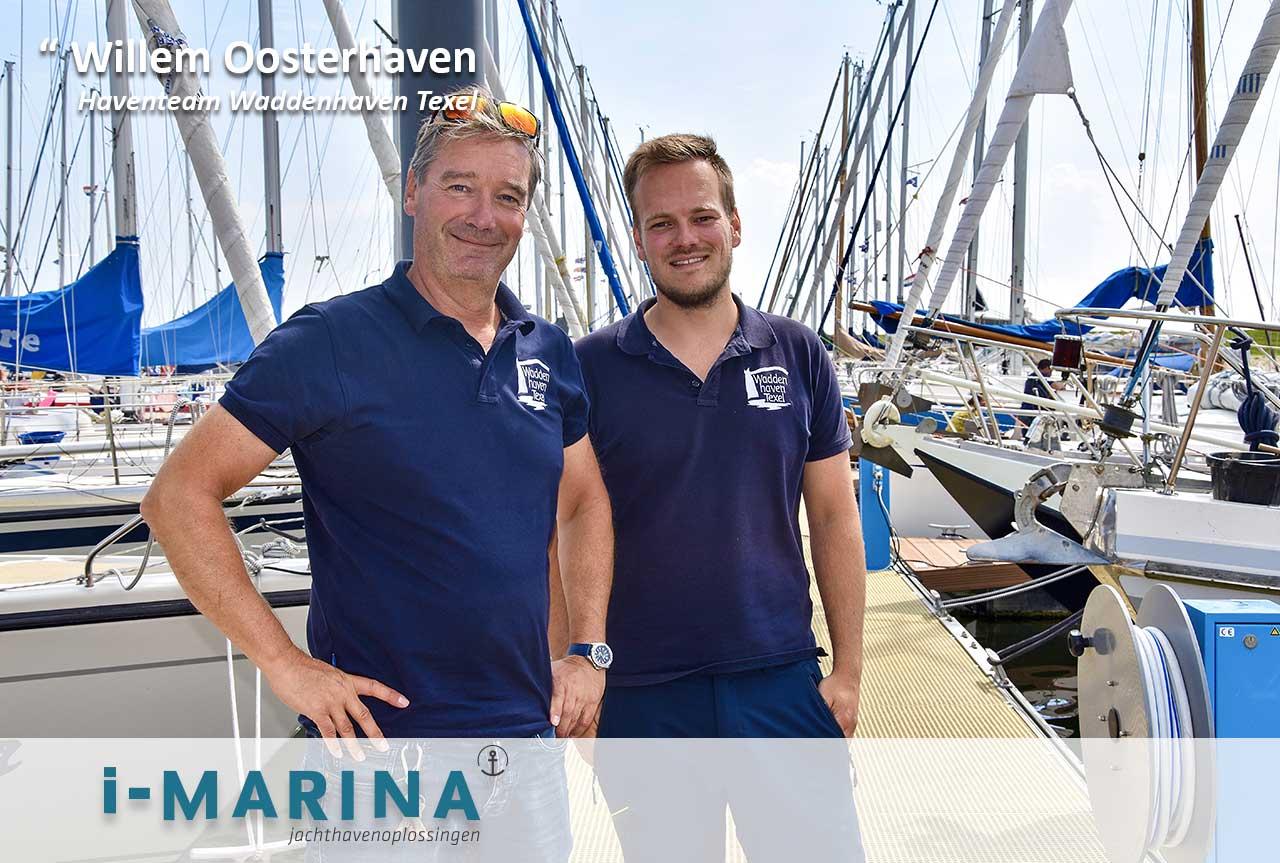 Haventeam van Stichting Waddenhaven Texel: 'Ook de wasmachines werken via i-Marina'